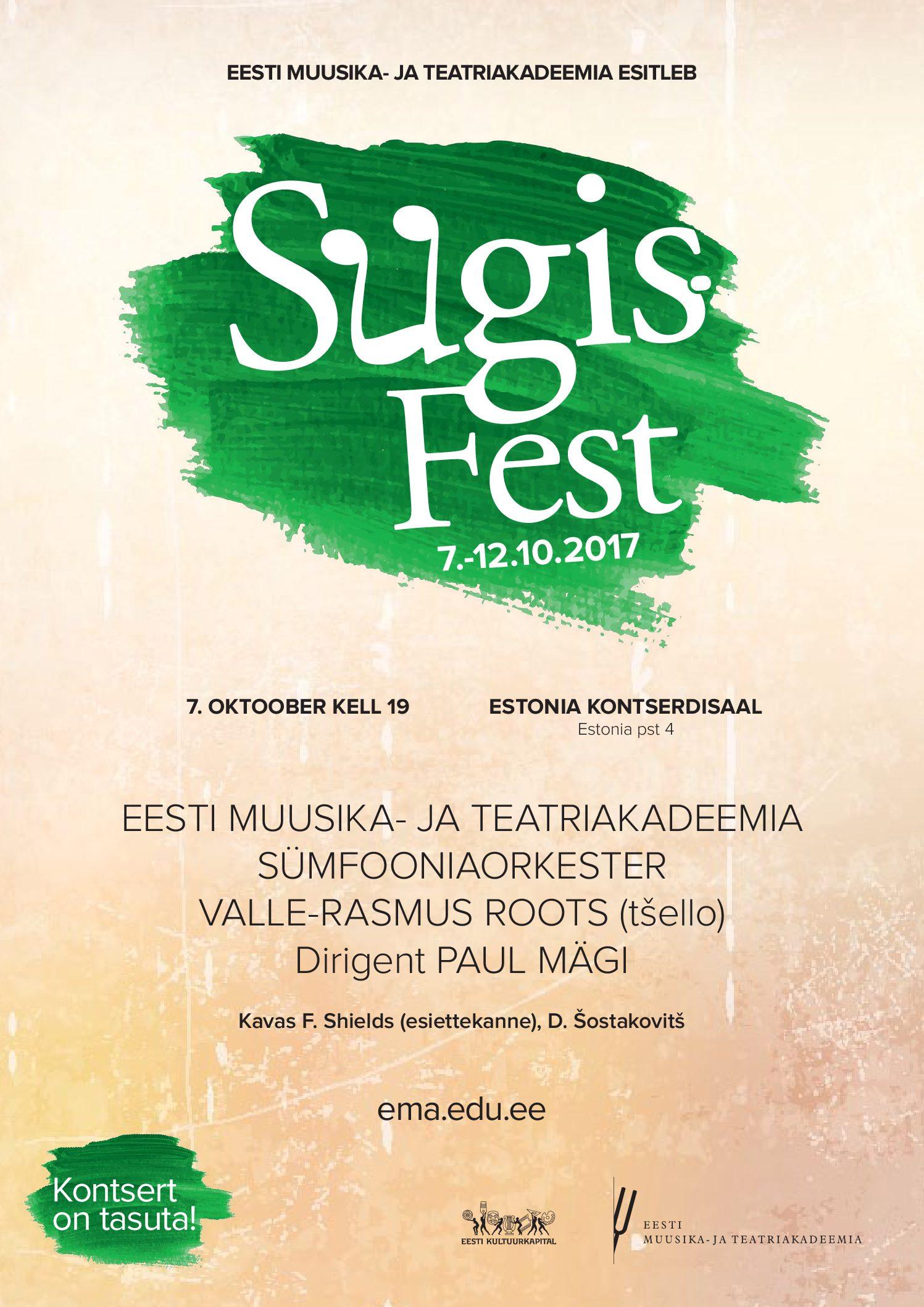 SügisFest. Avakontsert