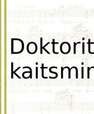 Aivar Simmermann kaitseb doktoritööd 22. novembril kell 16.00 Lavakunstikooli Valges saalis