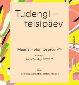 Tudengiteisipäev. Maarja Helen Oserov