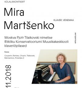 Külaliskontsert. Mira Martšenko