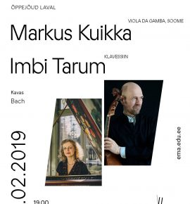 Õppejõud laval. Markus Kuikka ja Imbi Tarum