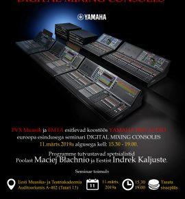 Yamaha helitehnika ja -programmide koolitus