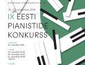IX Eesti Pianistide Konkurss – II vooru otseülekanded